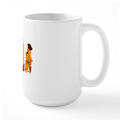 Maxfield Parrish Cat Mug Large Mug