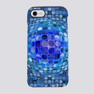 Optical Illusion Sphere - Blue iPhone 7 Tough Case