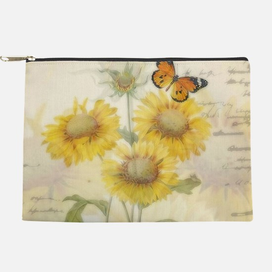 Sunflowers and butterflies Makeup Pouch