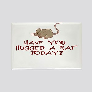 Rat Hug Rectangle Magnet