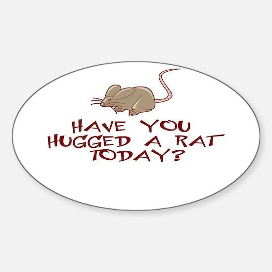 Rat Hug Oval Decal