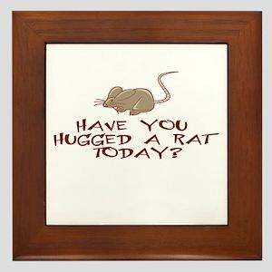 Rat Hug Framed Tile