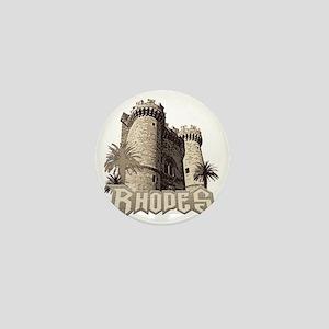 rhodes_castle_t_shirt Mini Button