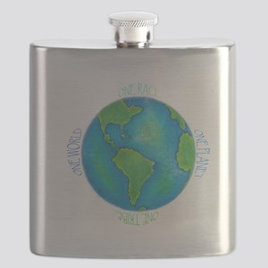 One World One Tribe Flask