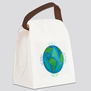 One World One Tribe Canvas Lunch Bag