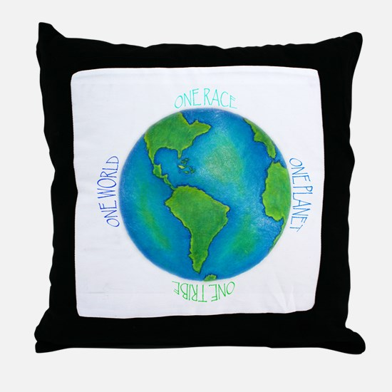 One World One Tribe Throw Pillow