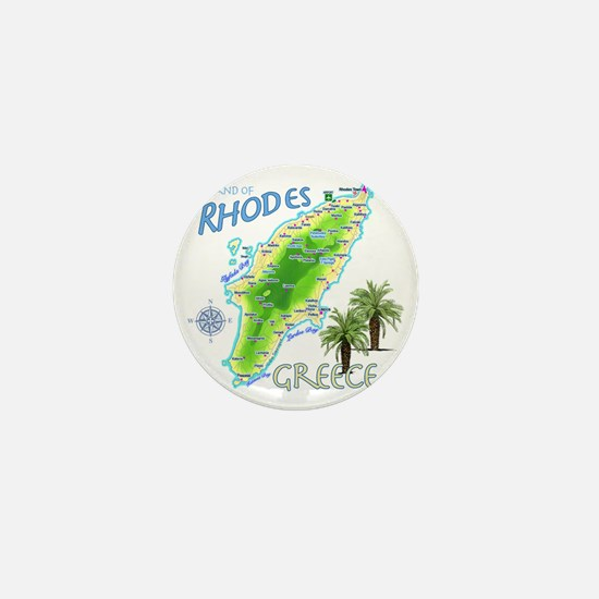 rhodes_map_t_shirt Mini Button