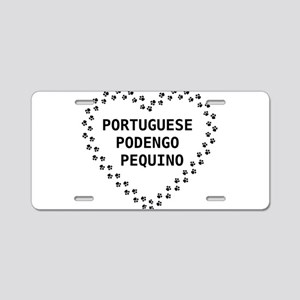 portuguese podengo pequino paw heart Aluminum Lice
