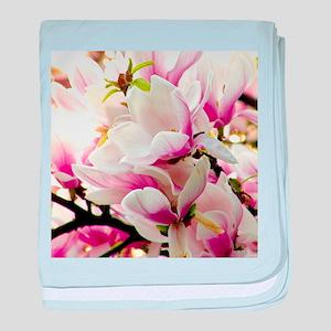 Sunlit Magnolias baby blanket