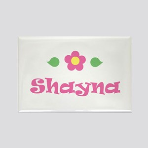 "Pink Daisy - ""Shayna"" Rectangle Magnet"