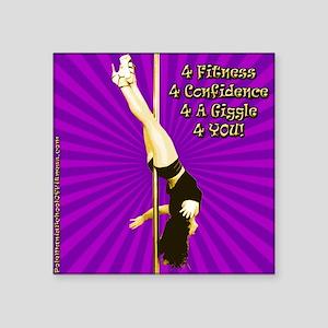 """sq1-purple-fallenangel Square Sticker 3"""" x 3"""""""