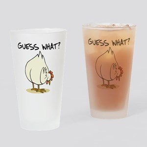 Chicken Butt Drinking Glass