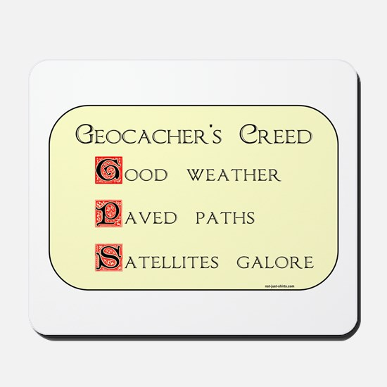 Geocacher's Creed Mousepad