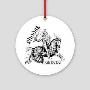 2-rhodes_knight_t_shirt Round Ornament