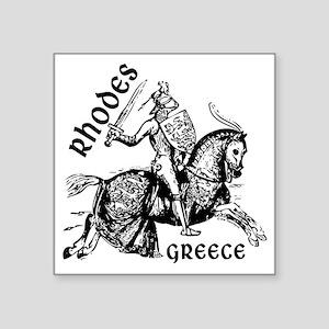"2-rhodes_knight_t_shirt Square Sticker 3"" x 3"""
