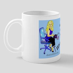 kick_wall_peel_oval Mug