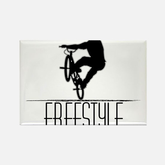 Freestyle BMX!! Rectangle Magnet