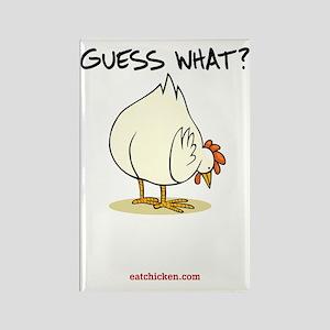 Chicken Butt Rectangle Magnet