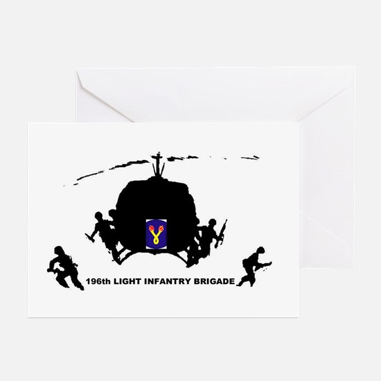 196th LIGHT INFANTRY Greeting Cards (Pk of 10)