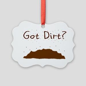 got dirt Picture Ornament