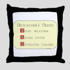 Geocacher's Creed Throw Pillow