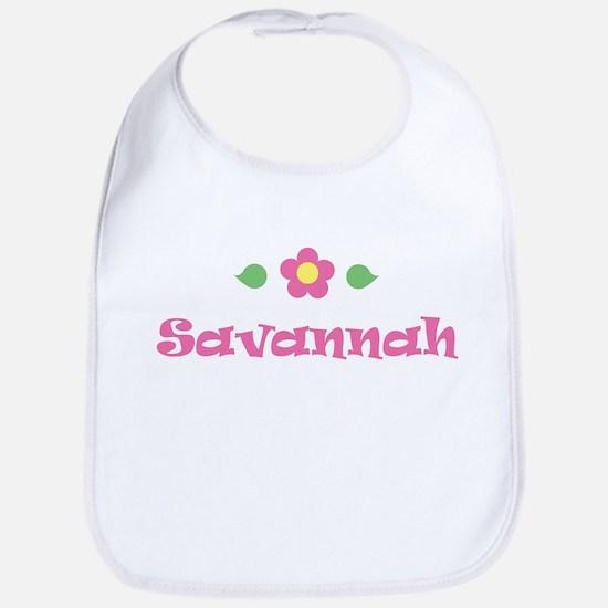 "Pink Daisy - ""Savannah"" Bib"