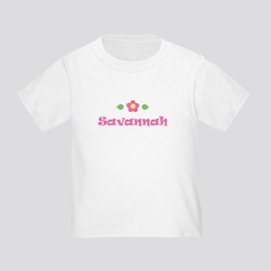 "Pink Daisy - ""Savannah"" Toddler T-Shirt"