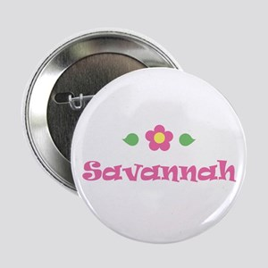"Pink Daisy - ""Savannah"" Button"