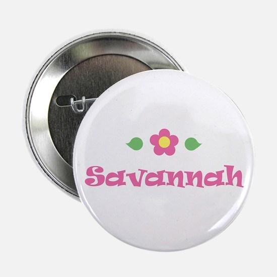 "Pink Daisy - ""Savannah"" Button"