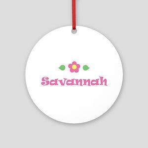 "Pink Daisy - ""Savannah"" Ornament (Round)"