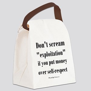 expoitation_sq Canvas Lunch Bag