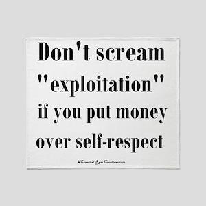 expoitation_sq Throw Blanket