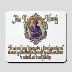 2-JFK on Secret Societies darks Mousepad
