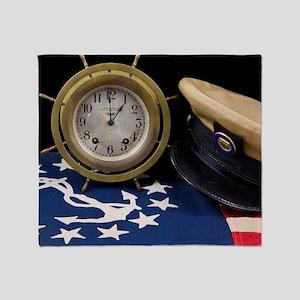 Clock Hat - Print Throw Blanket