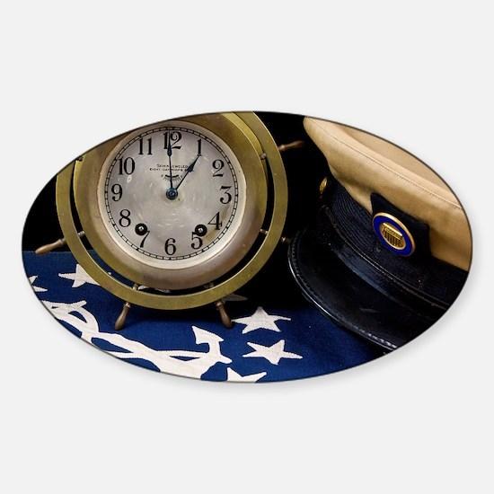Clock Hat - Print Sticker (Oval)