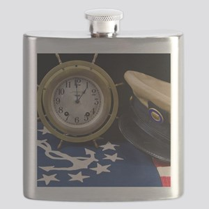 Clock Hat - Print Flask