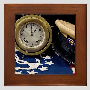 Clock Hat - Print Framed Tile
