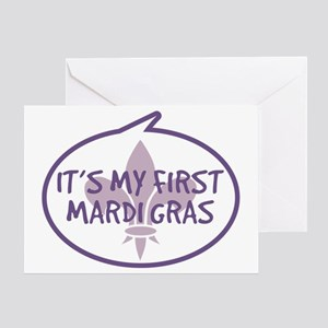 Babys First Mardi Gras Greeting Card