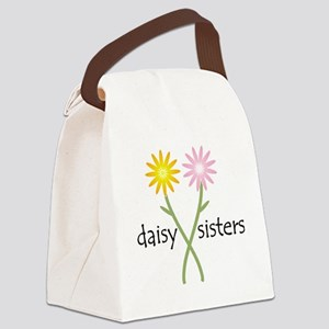 daisy_sisters_yell-pink Canvas Lunch Bag