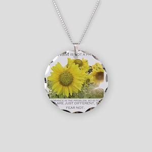 sunflower200dpi Necklace Circle Charm