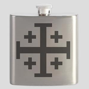 Cross Potent - Jerusalem - Black Flask