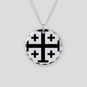 Cross Potent - Jerusalem - B Necklace Circle Charm