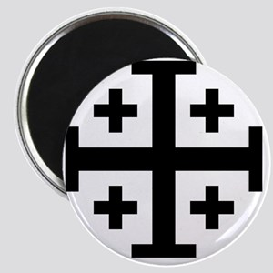 Cross Potent - Jerusalem - Black Magnet