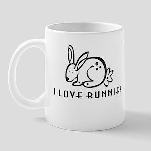 I Love Bunnies Mug