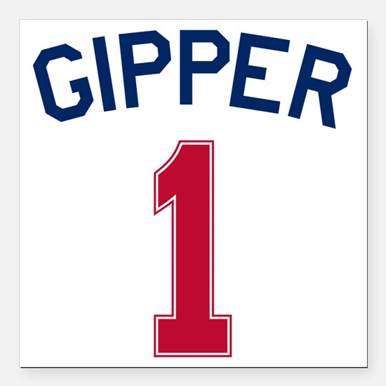 "Gipper #1-2 Square Car Magnet 3"" x 3"""