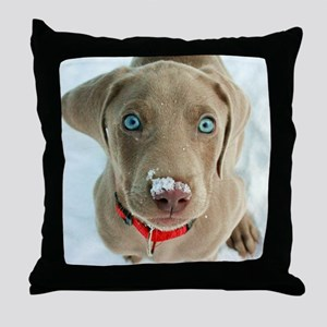 do i have something on my nose Throw Pillow