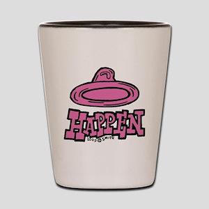 condom_happen_right_pink Shot Glass