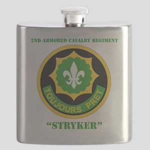 SS I - 2nd Armored Cavalry Regiment with tex Flask