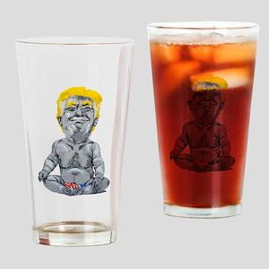 dump trump baby Drinking Glass