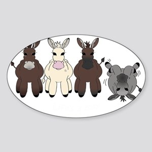 Donkeysdark Sticker (Oval)